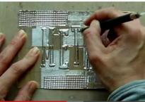 Still from Metal Tape Art Techniques video